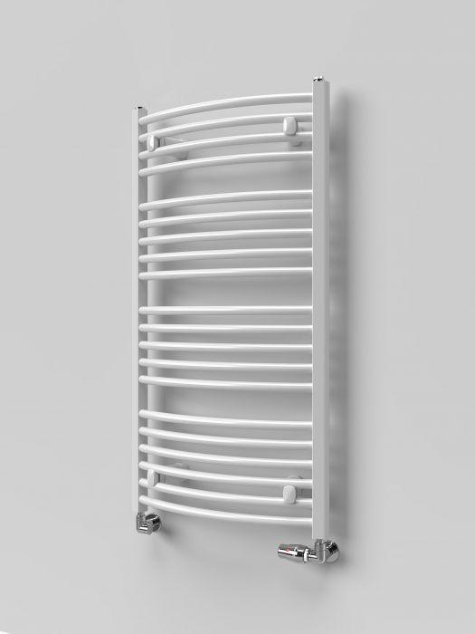 Grzejnik łazienkowy pionowy SKALAR Treviso 118/50 1180 x 500 mm 578 W przyłącze 450 mm biały #2
